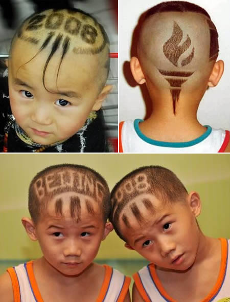 funny haircuts. They make their haircut funny,