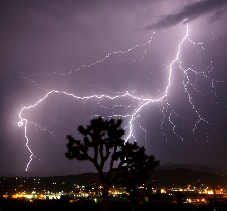 Lightning strikes Twentynine Palms in California