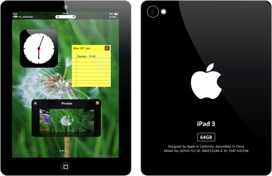 iPad 3 Concept Designs The Wondrous PicsIpad 3 Back Png