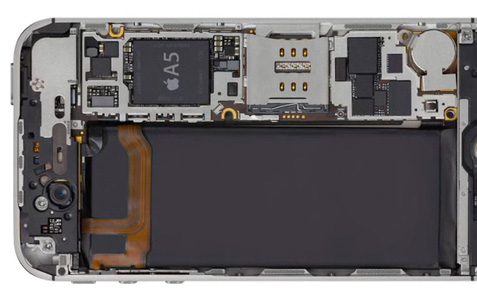 inside apple iphone 4s