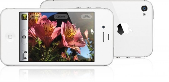 iphone 4s camera white
