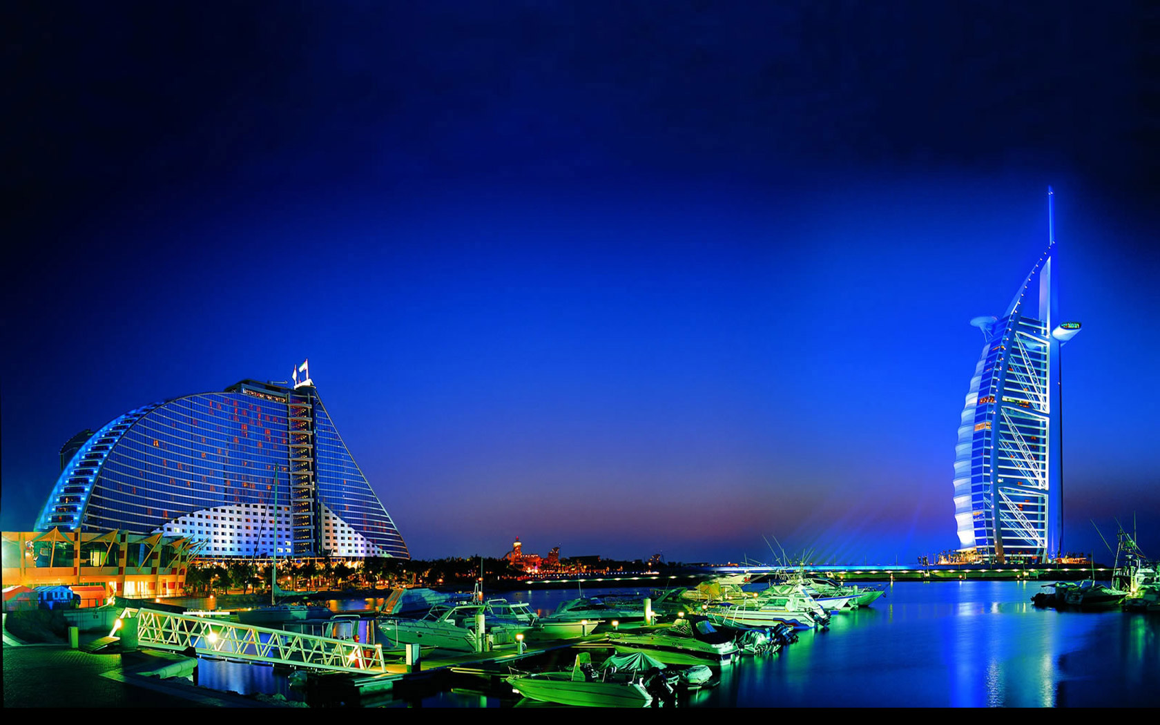 Dubai city at night for Hotel de dubai