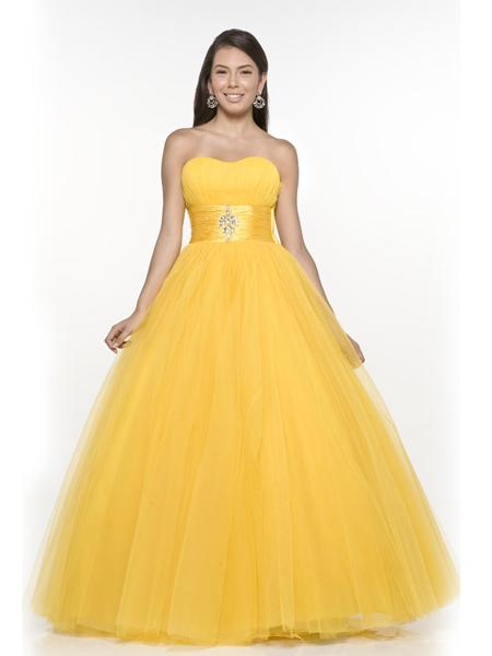 Yellow Military Ball Dresses 20