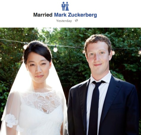 Mark Zuckerberg (Co-founder of Facebook) and Priscilla Chan Get Married