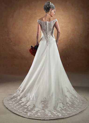 A Line Off The Shoulder Wedding Gowns 2 4729 The Wondrous Pics