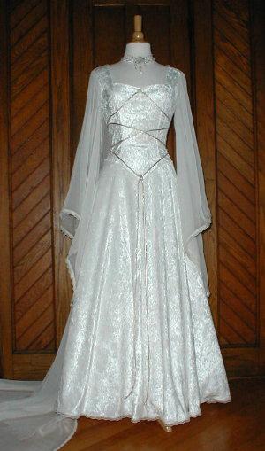 Celtic wedding dresses the wondrous pics for Medieval style wedding dress