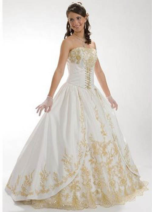 Stunning White and Gold Wedding Dresses 500 x 698 · 42 kB · jpeg