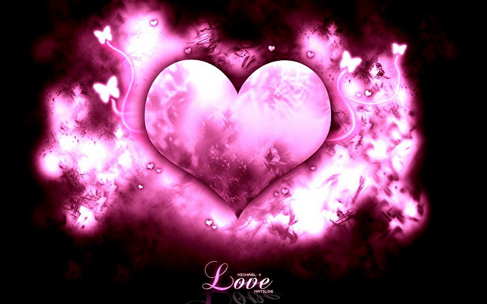 Pink-Love-Heart-wallpaper