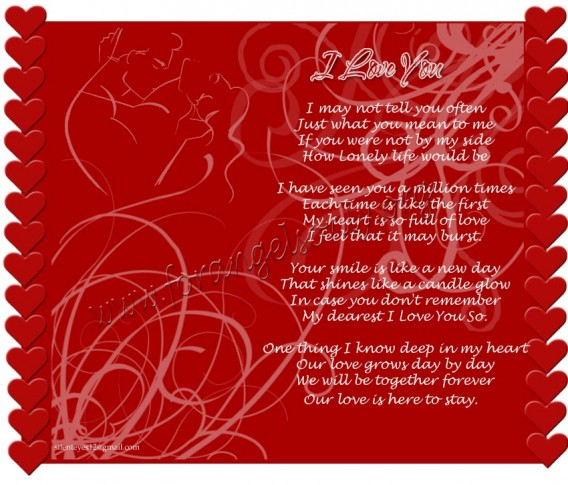 I Love You - Wallpapers and Poems - The Wondrous Pics