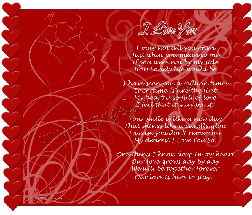 I Love You Quotes And Poems : july 19 2012 i love you wallpapers and poems