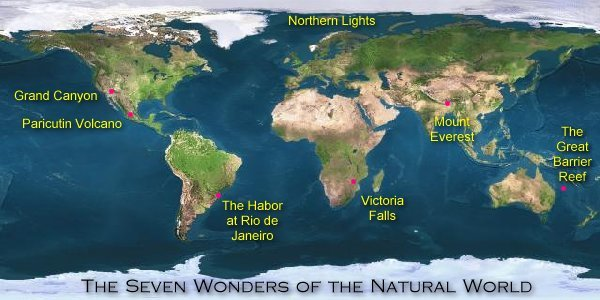 Seven (7) Natural Wonders of the World