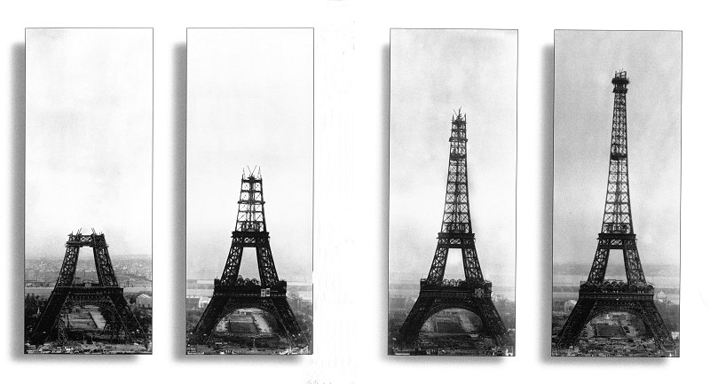 Eiffel Tower Construction Pictures