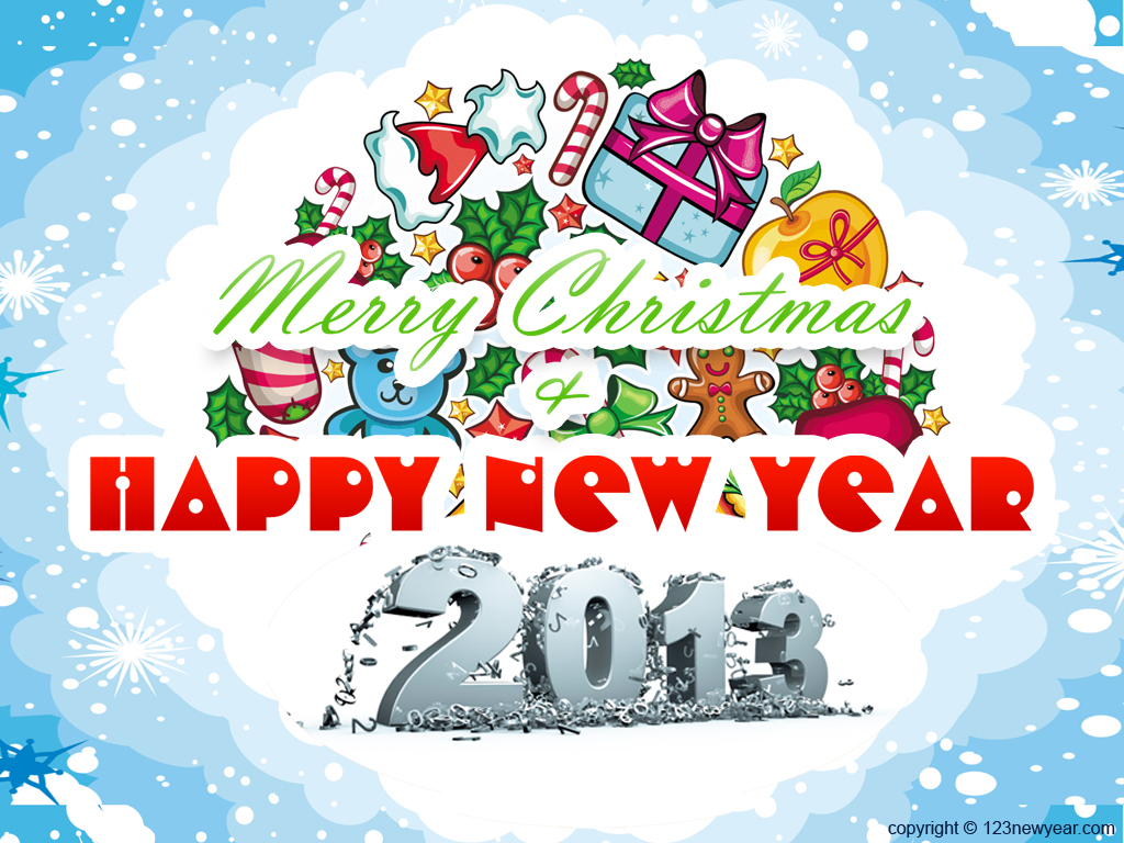 Beautiful-Gifts-Merry-Christmas-and-Happy-New-Year-2013-HD-Wallpaper