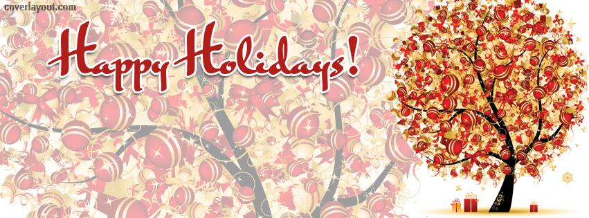 Happy Holidays Facebook Timeline Covers