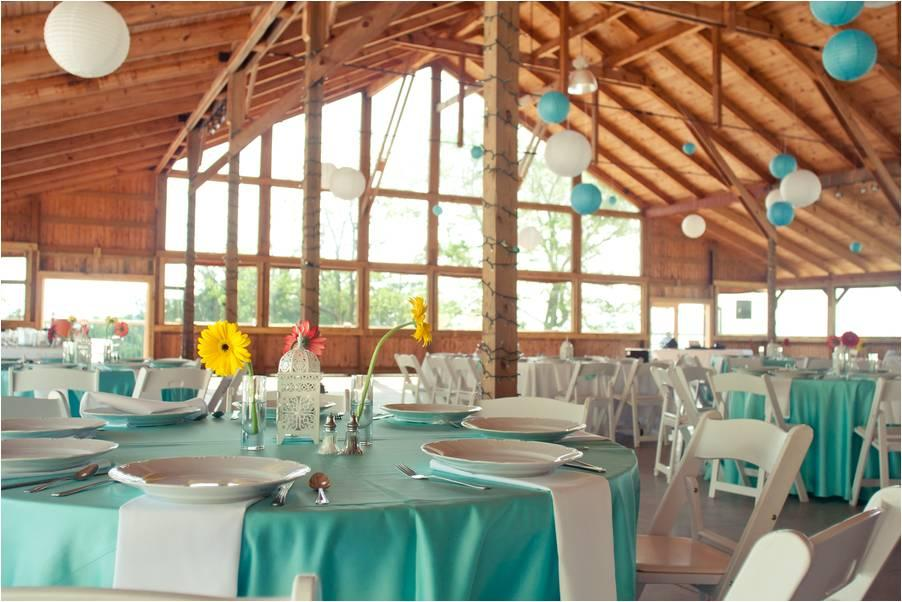 Rinia Wedding Venue Teal White Red Yellow Tablescapes Paper Lanterns