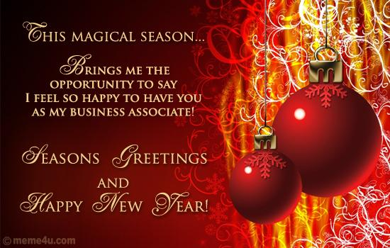 Seasons Greetings and Happy New Year 2013