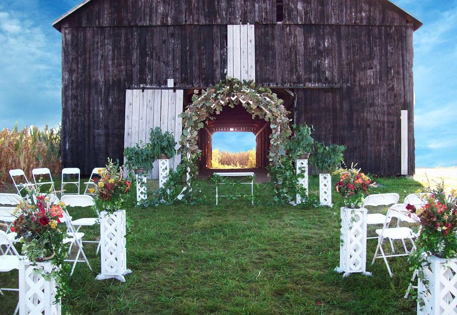 Outdoor wedding venue decoration ideas the wondrous pics for Outdoor wedding decoration ideas