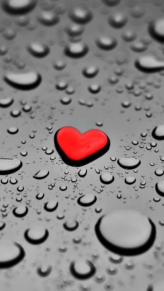 Red-Drop-Heart-iPhone-5-wallpaper
