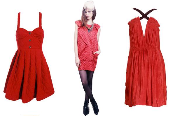 Red dress ink drop