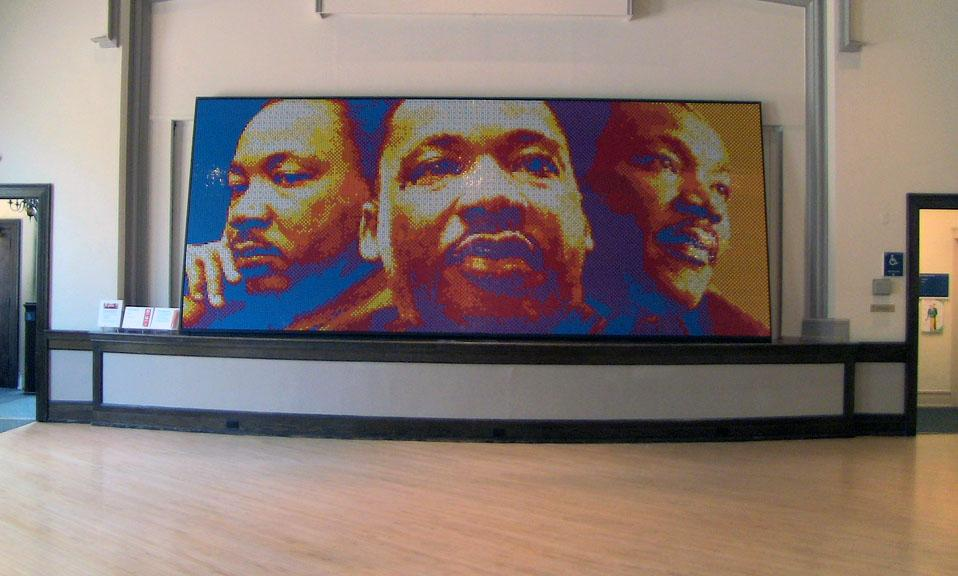 martin luther king rubiks cube mural 5 8747 the. Black Bedroom Furniture Sets. Home Design Ideas