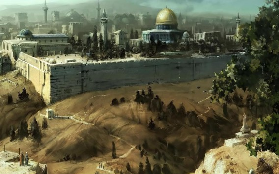 Jerusalem painting wallpaper