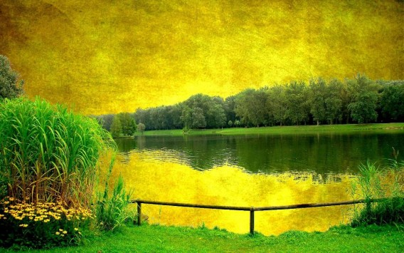 Landscape 3D painting hd wallpaper