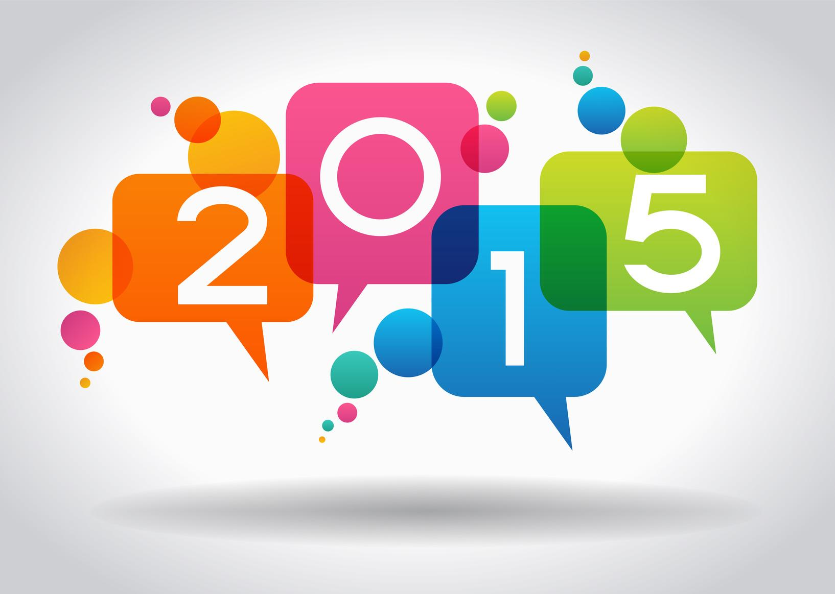Vector 2015 Happy New Year background